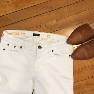 J.Crew white, Matchstick jeans